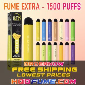 FUME EXTRA DISPOSABLE VAPE 1500 PUFFS ALL FLAVORS